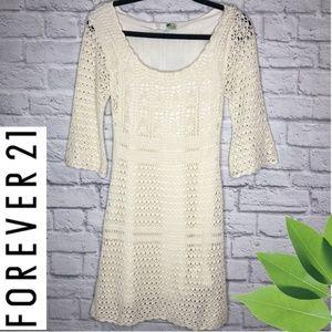 Forever 21 Knit Dress ¾ sleeves Medium